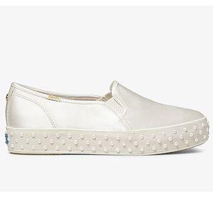 Keds/Kate Spade Cream Pearl Sneakers Size 8